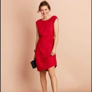 Red brooks brothers dress